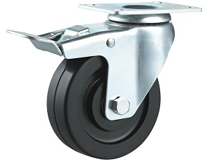 ESD and Conductive Rubber Casters Threaded Stem with